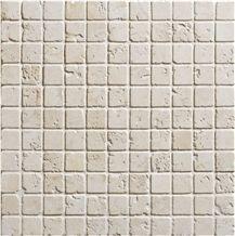 Ivory Travertine Tumbled Mosaic