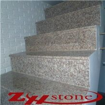 Peach Blossom Red Gutian Granite G687 Steps, Staircase,Treads,Riser, and Stair Threshold