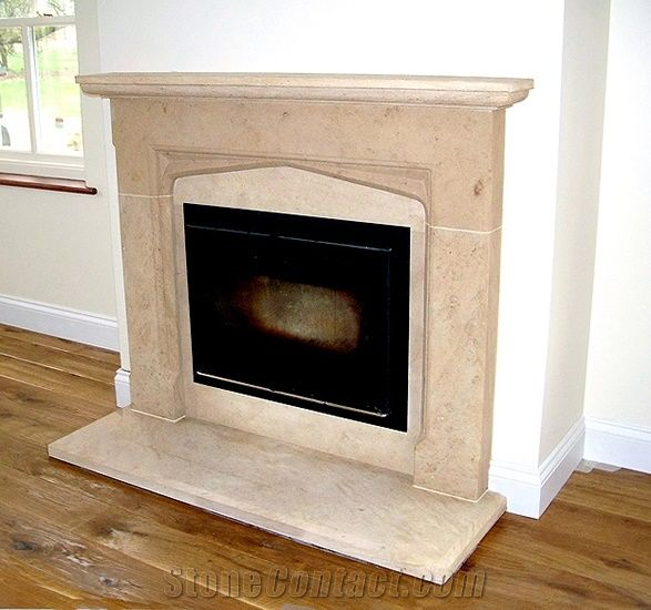 Beige Marble America Fireplace Mantel Fireplace Decorating