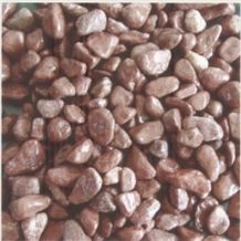 China Honed Natural Red Granite Pebble Stone,Cobbles,River Stobe