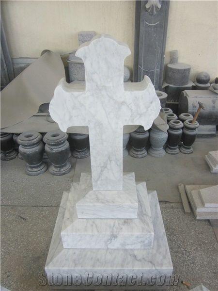 White Marble Tombstone White Marble Memorial White Marble