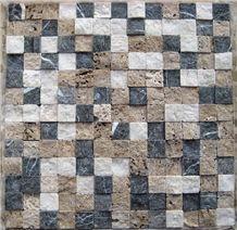 3d Travertine White Mosaic for Wall Mosaic