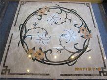 Beautiful Square Polished Marble Medallion