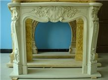 Beige French Style Fireplace-Rsc025 Marble