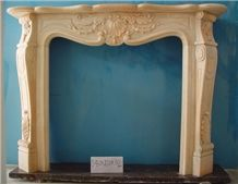 Brown French Style Marble Fireplace for Sale