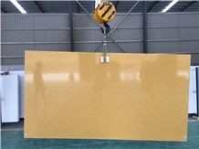 Crystal Yellow Quartz Stone Slabs Engineered Stone