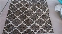 Dark Emperador Marble Mosaic Tile Pattern