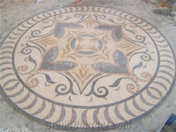 Emperador Light Marble Mosaic Pattern Decorative Floor Tile From
