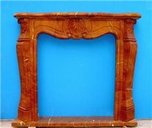 Fireplace-R021 French Style Brown Marble