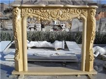 French Style Marble Fireplace for Sale