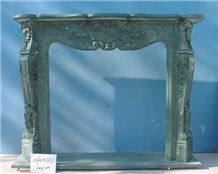 Green Marble Fireplace-Rsc007 French Style