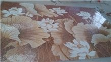Marble Flower Mosaic Floor Pattern Floor Medallion