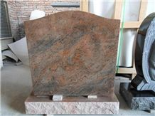 Multicolor Red Granite Single Upright Monument
