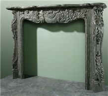 New French Style Fireplace-Rsc010 Green Marble