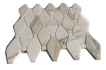 Octagon White Marble Mosaic