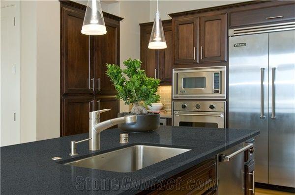 Quartz Stone Kitchen Countertop Black Quartz Stone Kitchen