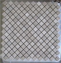 Square Beige Travertine Mosaic