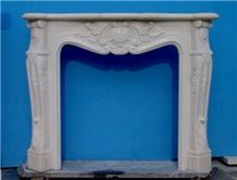 White Marble Fireplace-Rsc008 French Style