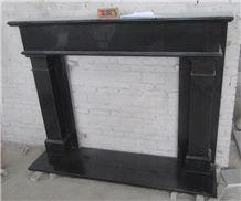 Big Discount Nero Assoluto Granite Indian Black Granite Fireplace Mantel
