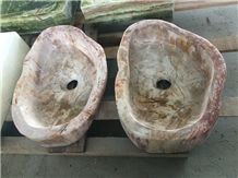 China Orange Onyx Wash Basin /Sinks