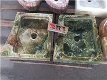 China Super Luxury Green Onyx Rectangle Basins /Sinks