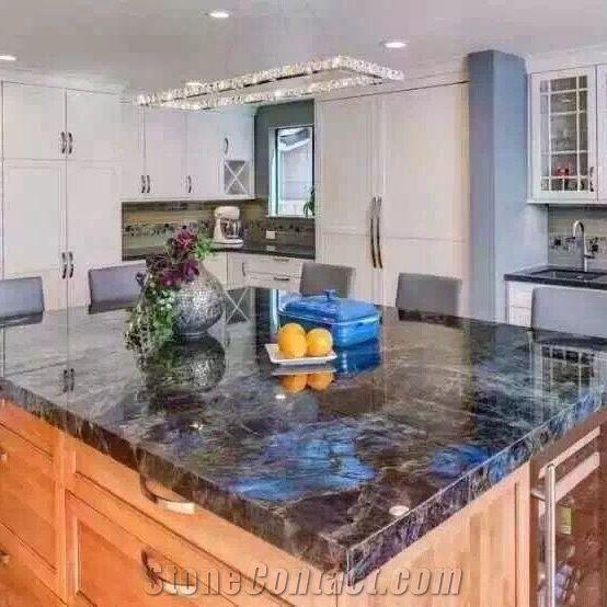 Jade Blue Granite Kitchen Countertops