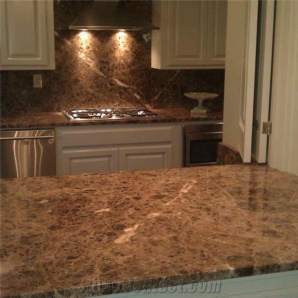 Nature Stone Dark Emperador Marble Kitchen Countertops