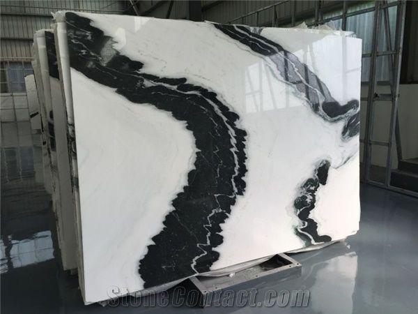 Dalmata Marble China Panda White Marble Tile Slab For