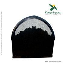 Absolute Black Granite Flora Headstones, Engraved Tombstones