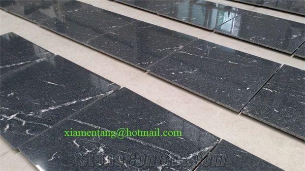 Jet Mist / Virginia Mist Tile, Virginia Mist Granite Slab from China
