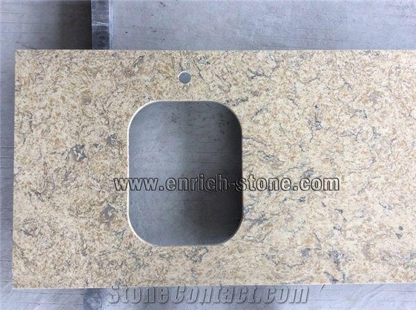 Synthetic Quartz Stone Kitchen Top