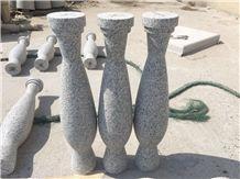 Grey Granite Baluster,Staircase Rails Granite,Railing Granite