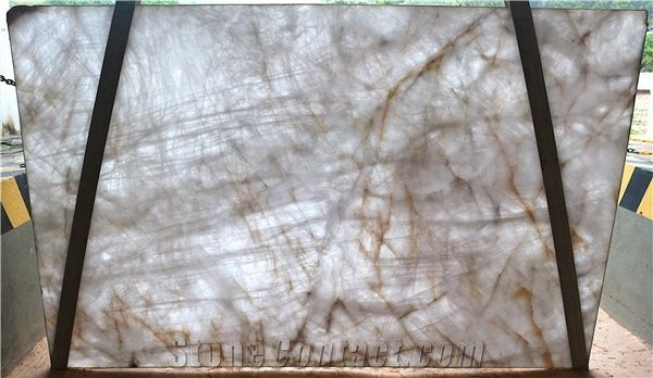 Crystallo Cristallo Quartzite Slab From Brazil