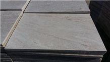 Flamed Golden White Quartzite Tiles and Flooring for Landscape