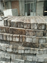 China Coffe Brown Limestone Cobble Stone