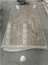 China Golden Juparana Granite Tombstones