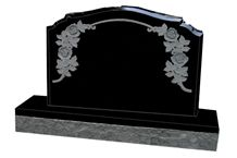 Australia Style Black Carved Tombstone Headstone,