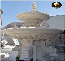 Egypt Cream Marble Fountain, Beige Marble Fountain