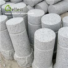 China Grey Color Flamed G623 Good Price Granite Parking Curbs for Stopping Car