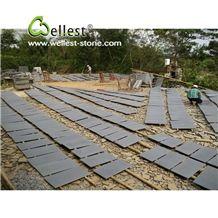 Hainan Grey Honed Basalt Tiles , Grey Basalt Stone Flooring Covering Tiles