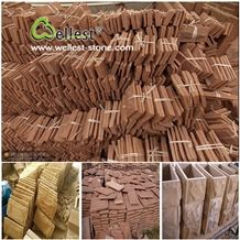 Sandstone Mushroom Stone,Yunnan Red Sandstone Building Stone,Landscaping Stone for Wall Cladding