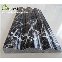 Wholesale China Natural Polished Finished M501 Black Marquina Marble Border