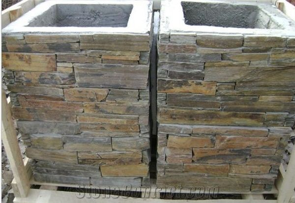 Cement Gate Posts For Garden China Slate Cultured Stone