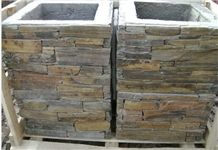 Cement Gate Posts for Garden, China Slate Cultured Stone Gate Posts