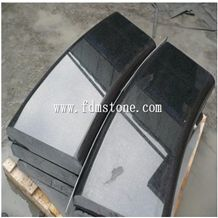 Polished G684 Black Basalt Stone Kerbstone,Curbstone for Landscaping