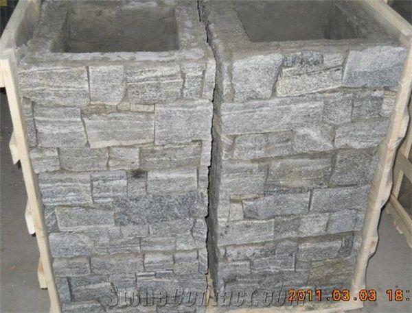 S1120 Slate Cement Cultured Column, Door Pillar Fence,Gates Post