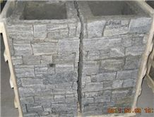 S1120 Slate Cement Cultured Column, Door Pillar Fence,Gates Post