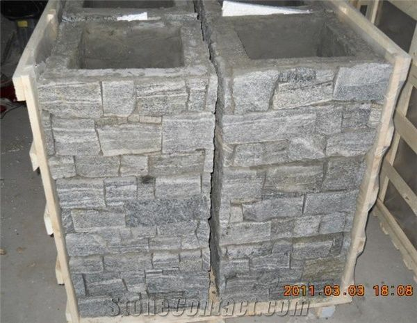 Slate Pillar Column Concrete Cultured Stone Pillar Gate