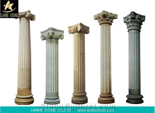 Stone Pillar,Garden Pillar,Marble Roman Column