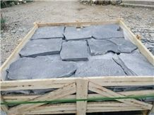 Fargo Grey Slate Random Shape Flagstones, China Grey Slate Irregular Flagstones, Grey Slate Irregular Wall Cladding Pieces, Slate Flagstone for Road Paving